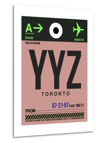 YYZ Toronto Luggage Tag 2-NaxArt-Metal Print