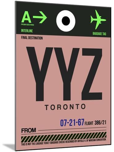 YYZ Toronto Luggage Tag 2-NaxArt-Mounted Art Print