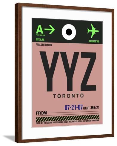 YYZ Toronto Luggage Tag 2-NaxArt-Framed Art Print