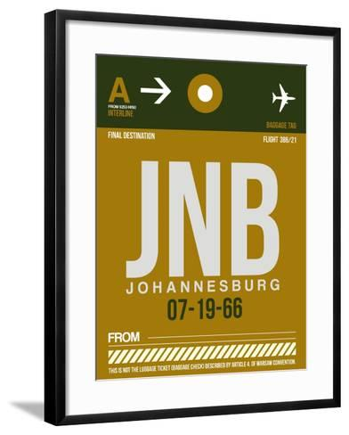 JNB Johannesburg Luggage Tag 1-NaxArt-Framed Art Print