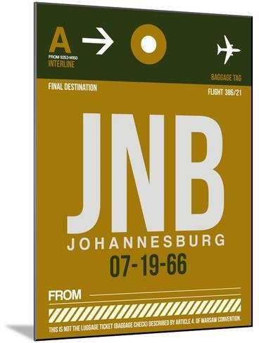 JNB Johannesburg Luggage Tag 1-NaxArt-Mounted Art Print