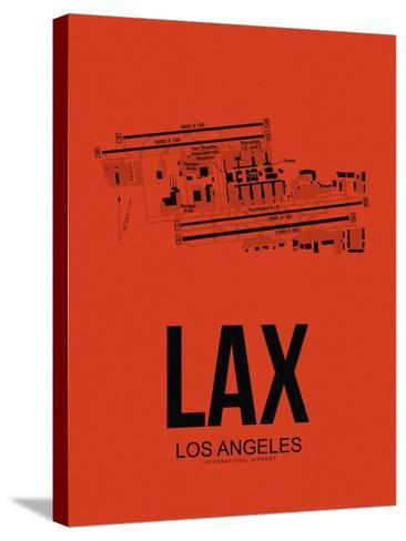 LAX Los Angeles Airport Orange-NaxArt-Stretched Canvas Print