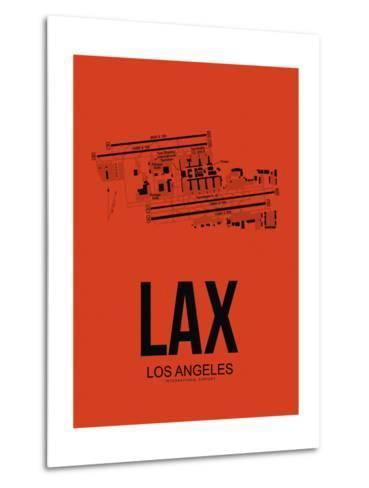 LAX Los Angeles Airport Orange-NaxArt-Metal Print