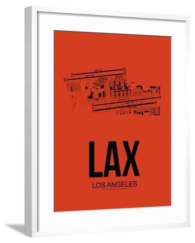 LAX Los Angeles Airport Orange-NaxArt-Framed Art Print