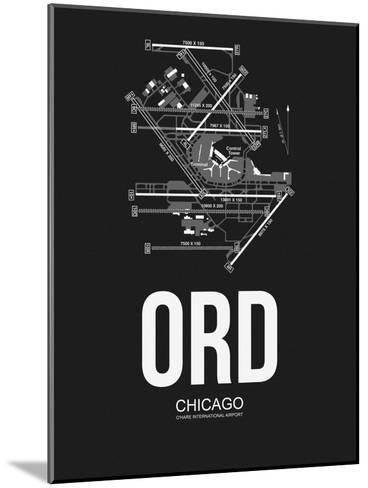 ORD Chicago Airport Black-NaxArt-Mounted Art Print