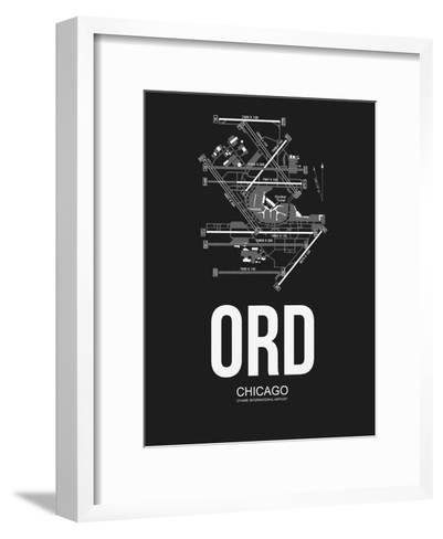 ORD Chicago Airport Black-NaxArt-Framed Art Print