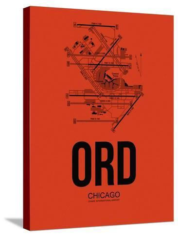 ORD Chicago Airport Orange-NaxArt-Stretched Canvas Print