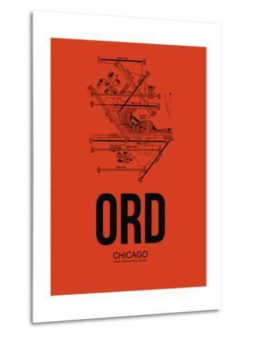 ORD Chicago Airport Orange-NaxArt-Metal Print