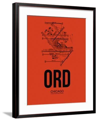 ORD Chicago Airport Orange-NaxArt-Framed Art Print