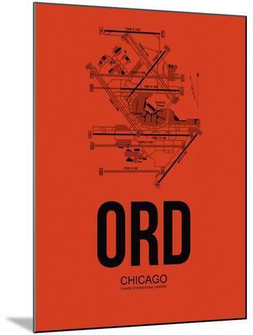 ORD Chicago Airport Orange-NaxArt-Mounted Art Print