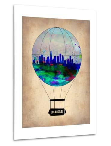 Los Angeles Air Balloon-NaxArt-Metal Print