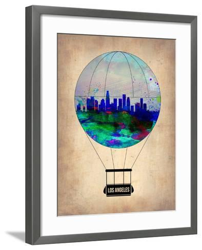 Los Angeles Air Balloon-NaxArt-Framed Art Print