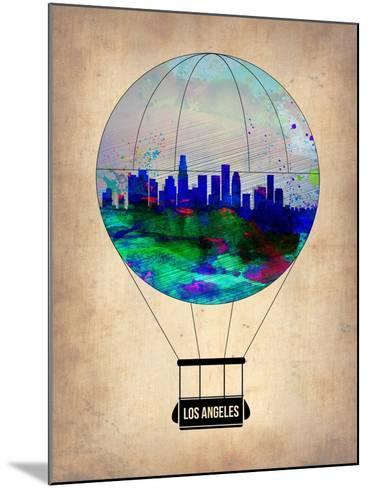 Los Angeles Air Balloon-NaxArt-Mounted Art Print