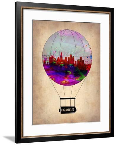 Los Angeles Air Balloon 2-NaxArt-Framed Art Print