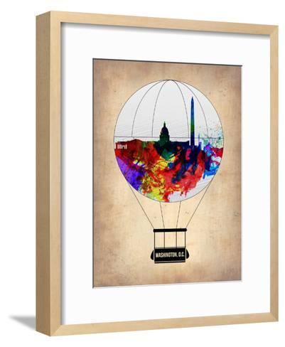 Washington, D.C. Air Balloon-NaxArt-Framed Art Print