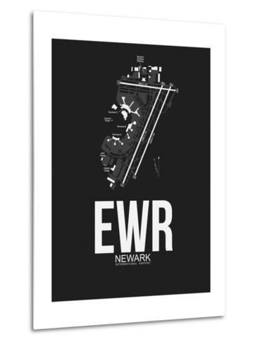 EWR Newark Airport Black-NaxArt-Metal Print