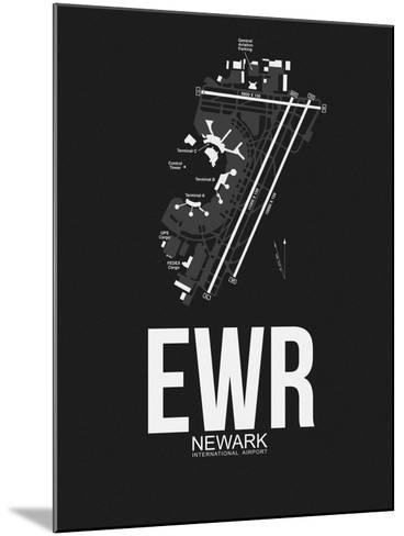 EWR Newark Airport Black-NaxArt-Mounted Art Print
