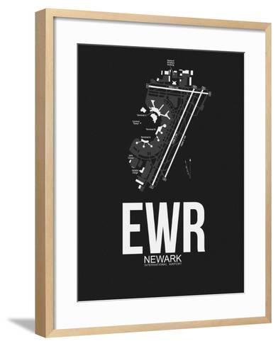 EWR Newark Airport Black-NaxArt-Framed Art Print
