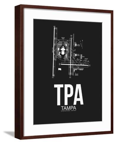 TPA Tampa Airport Black-NaxArt-Framed Art Print