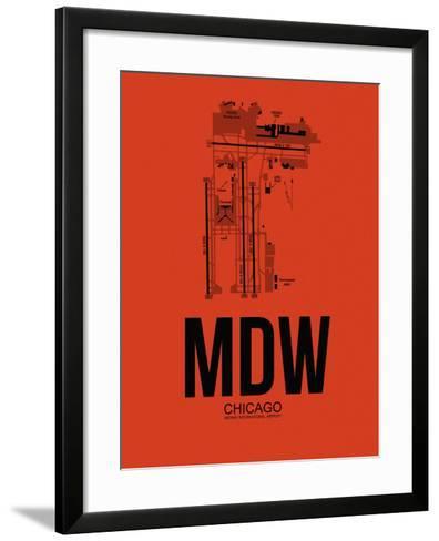 MDW Chicago Airport Orange-NaxArt-Framed Art Print