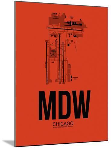 MDW Chicago Airport Orange-NaxArt-Mounted Art Print
