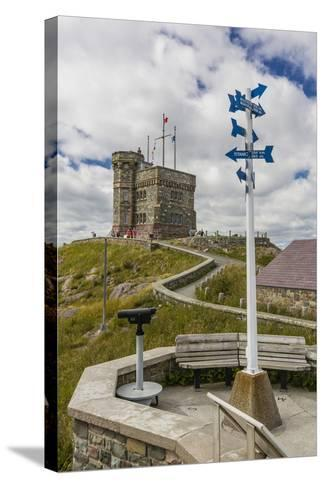 Cabot Tower, Signal Hill National Historic Site, St. John'S, Newfoundland, Canada, North America-Michael Nolan-Stretched Canvas Print