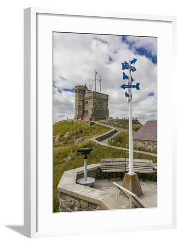 Cabot Tower, Signal Hill National Historic Site, St. John'S, Newfoundland, Canada, North America-Michael Nolan-Framed Art Print