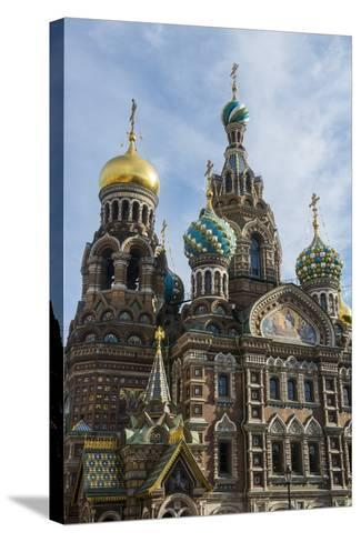Church of the Saviour on Spilled Blood, UNESCO World Heritage Site, St. Petersburg, Russia, Europe-Michael Runkel-Stretched Canvas Print