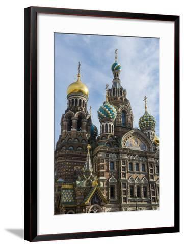 Church of the Saviour on Spilled Blood, UNESCO World Heritage Site, St. Petersburg, Russia, Europe-Michael Runkel-Framed Art Print