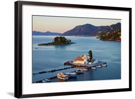 Vlacherna Monastery, Kanoni, Corfu, Ionian Islands, Greek Islands, Greece, Europe-Tuul-Framed Art Print
