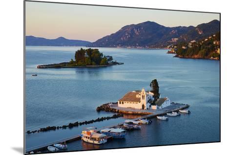 Vlacherna Monastery, Kanoni, Corfu, Ionian Islands, Greek Islands, Greece, Europe-Tuul-Mounted Photographic Print