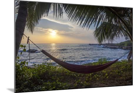 Silhoutte of an Empty Beach Hammock at the Beach, Tangalle, Sri Lanka, Asia- Charlie-Mounted Photographic Print