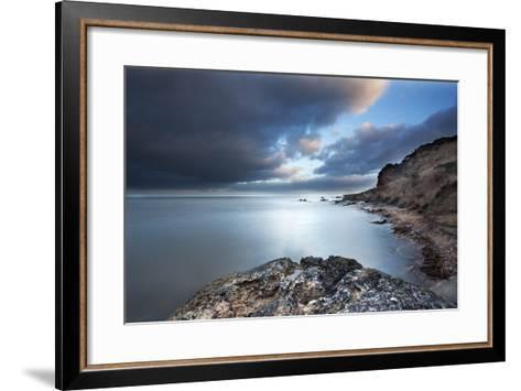 Fife Coast at Dusk Near St. Andrews, Fife, Scotland, United Kingdom, Europe-Mark-Framed Art Print