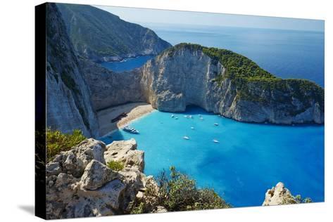 Shipwreck Beach, Zante Island, Ionian Islands, Greek Islands, Greece, Europe-Tuul-Stretched Canvas Print