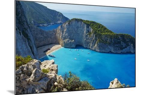 Shipwreck Beach, Zante Island, Ionian Islands, Greek Islands, Greece, Europe-Tuul-Mounted Photographic Print