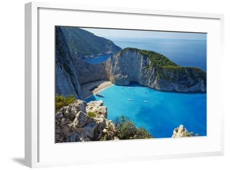 Shipwreck Beach, Zante Island, Ionian Islands, Greek Islands, Greece, Europe-Tuul-Framed Art Print