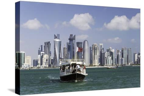 New Skyline of the West Bay Central Financial District of Doha, Qatar, Middle East-Gavin-Stretched Canvas Print