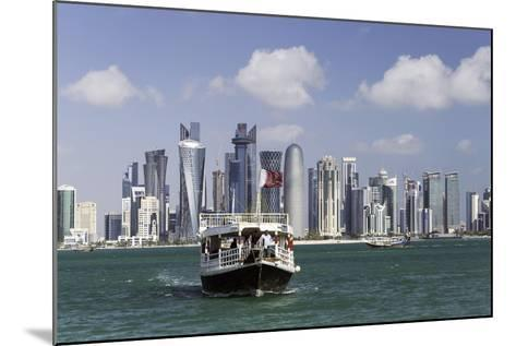 New Skyline of the West Bay Central Financial District of Doha, Qatar, Middle East-Gavin-Mounted Photographic Print