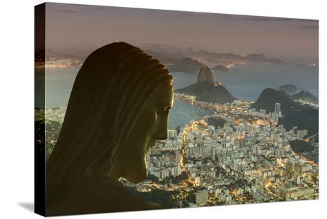Head of Statue of Christ the Redeemer, Corcovado, Rio De Janeiro, Brazil, South America-Angelo-Stretched Canvas Print
