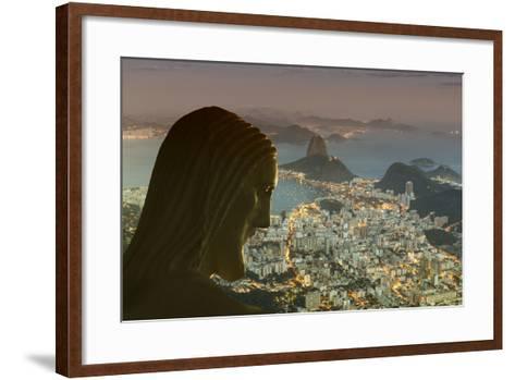 Head of Statue of Christ the Redeemer, Corcovado, Rio De Janeiro, Brazil, South America-Angelo-Framed Art Print