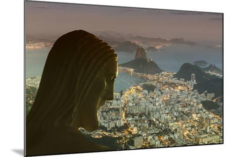 Head of Statue of Christ the Redeemer, Corcovado, Rio De Janeiro, Brazil, South America-Angelo-Mounted Photographic Print