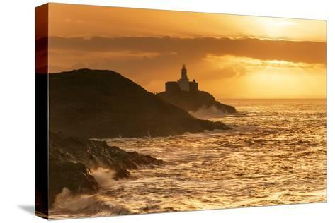 Mumbles Lighthouse, Bracelet Bay, Gower, Swansea, Wales, United Kingdom, Europe-Billy-Stretched Canvas Print