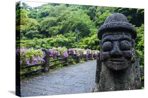 Basalt Statue in Seogwipo, Island of Jejudo, UNESCO World Heritage Site, South Korea, Asia-Michael-Stretched Canvas Print