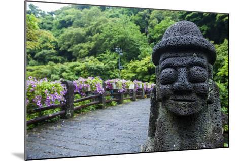 Basalt Statue in Seogwipo, Island of Jejudo, UNESCO World Heritage Site, South Korea, Asia-Michael-Mounted Photographic Print