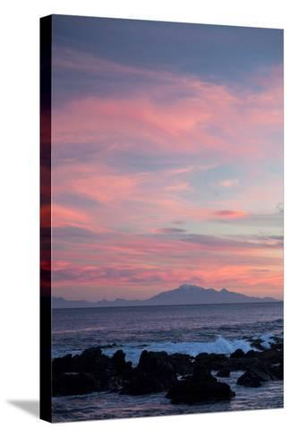 Kaikoura Ranges in South Island at Sunset from Wellington, North Island, New Zealand, Pacific- Nick-Stretched Canvas Print
