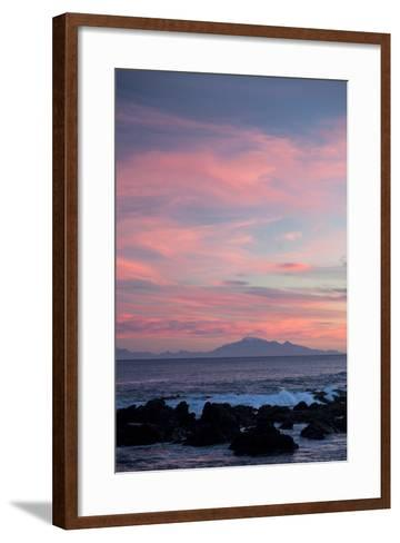 Kaikoura Ranges in South Island at Sunset from Wellington, North Island, New Zealand, Pacific- Nick-Framed Art Print