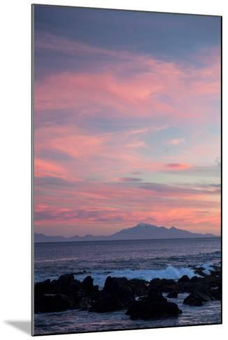 Kaikoura Ranges in South Island at Sunset from Wellington, North Island, New Zealand, Pacific- Nick-Mounted Photographic Print