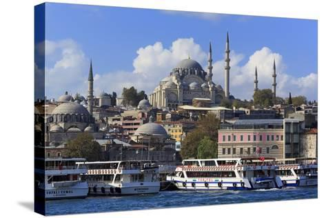 Sulemaniye Mosque, Eminonu and Bazaar District, Istanbul, Turkey, Europe- Richard-Stretched Canvas Print