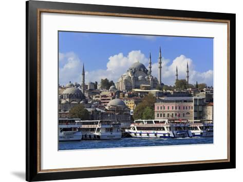 Sulemaniye Mosque, Eminonu and Bazaar District, Istanbul, Turkey, Europe- Richard-Framed Art Print