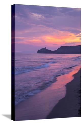 Castiglione Della Pescaia, Roccamare Beach at Sunset, Grosseto, Tuscany, Italy, Europe- John-Stretched Canvas Print